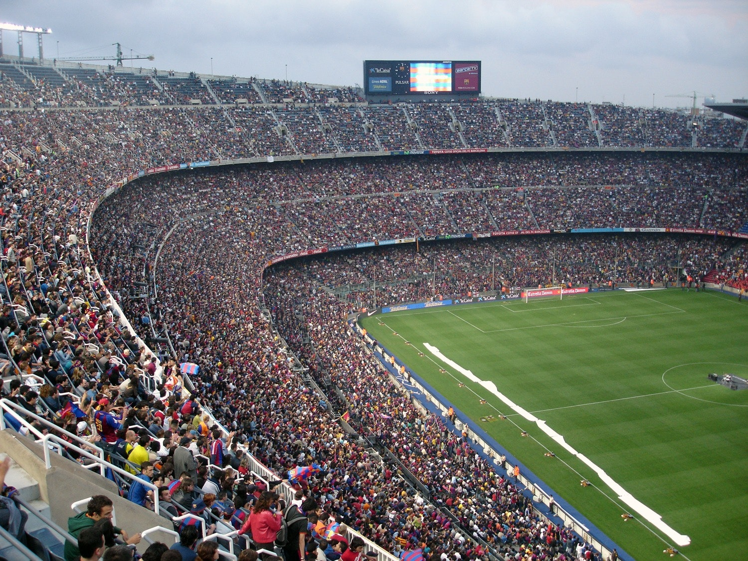 sports fans at a soccer stadium